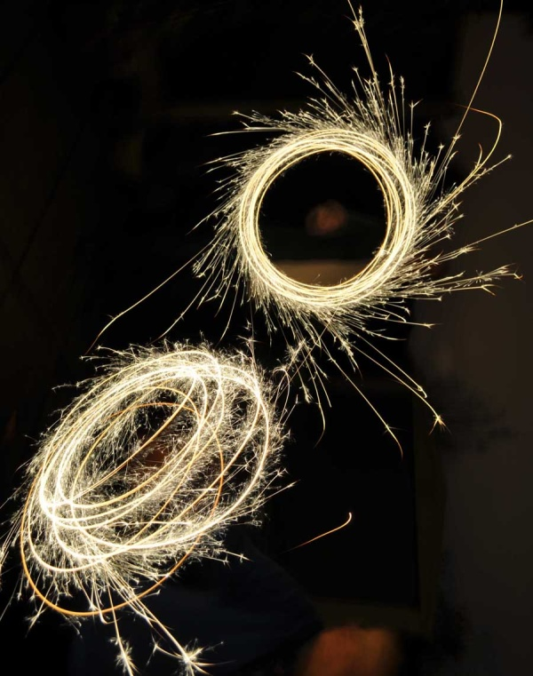Fun with sparklers